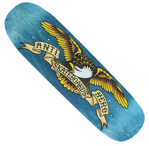 "Anti-Hero Shaped Eagle Blue Meanie 8.75"" Deck"