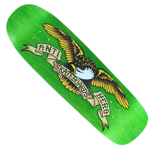 "Anti-Hero Shaped Eagle Green Giant 9.56"" Deck"