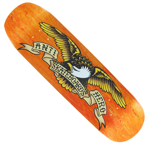 "Anti-Hero Shaped Eagle Orange Crusher 9.1"" Deck"