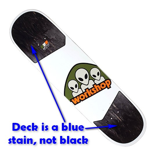 "Alien Workshop Triad Medium 8.125"" Deck / Blue Stain"
