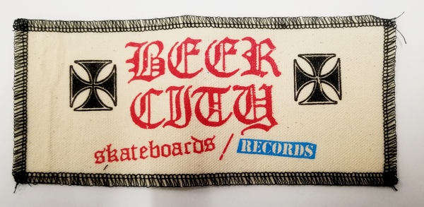 "Beer City Skateboards Large 8.5"" x 3.5"" Patch Canvas"