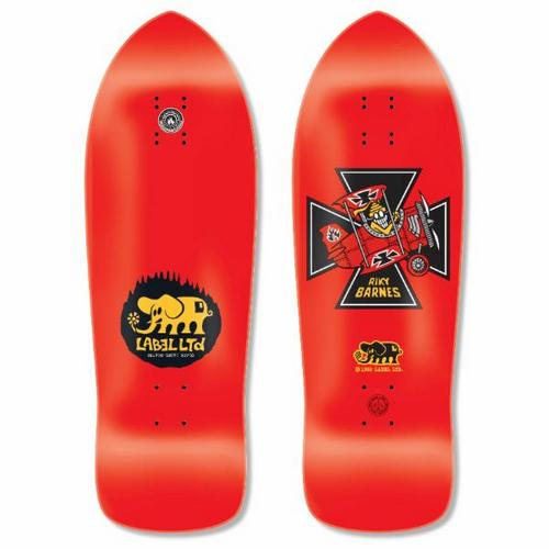 "Black Label Riky Barnes Red Baron 10.25"" Red Deck"