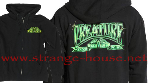Creature Plaque Zip Hoodie Black / Large