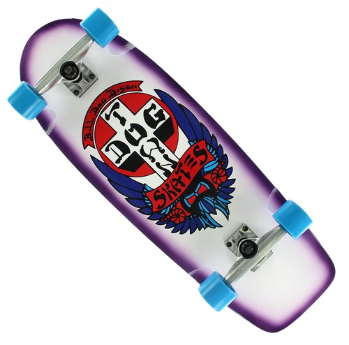 "Dogtown Skates Bulldog OG Rider Complete 10.0"" White / Purple"