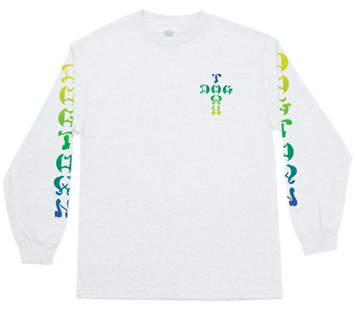 Dogtown Skates Cross Logo Color Fade L/S T-Shirt White / Small
