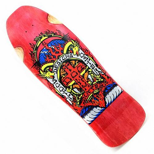 "Dogtown Skates Scott Oster 10.25"" Re-Issue Deck - Red Stain"