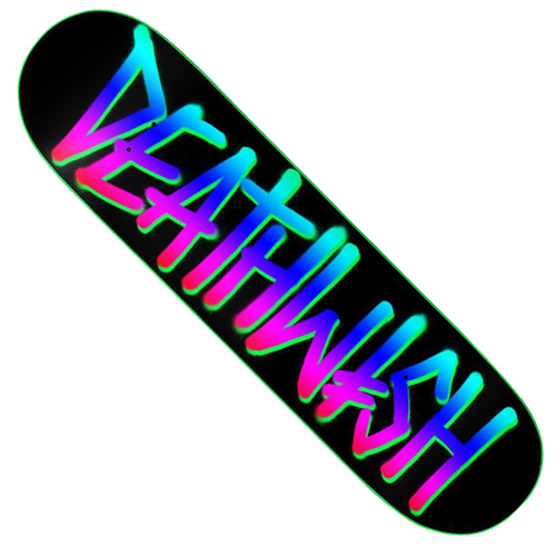 "Deathwish Deathspray Process 8.0"" Deck Black / Neon"