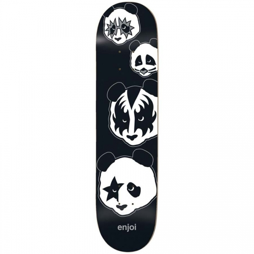 "Enjoi Kiss Logo R7 Deck - Black - 8.0"" x 31.6"""