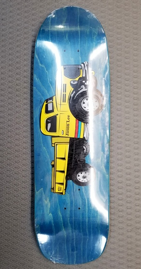 Folklore Jason Lee Dumptruck Shaped Deck BLUE Stain 9.5""