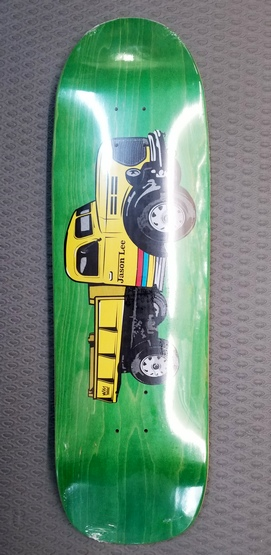 Folklore Jason Lee Dumptruck Shaped Deck GREEN Stain 9.5""