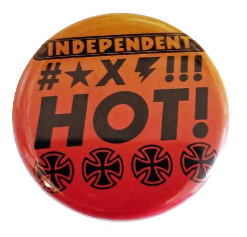 "Independent HOT!!! 1.25"" Round Button"