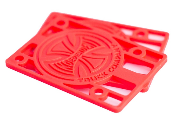 "Independent 1/8"" Hard Risers (Pair) / Red"