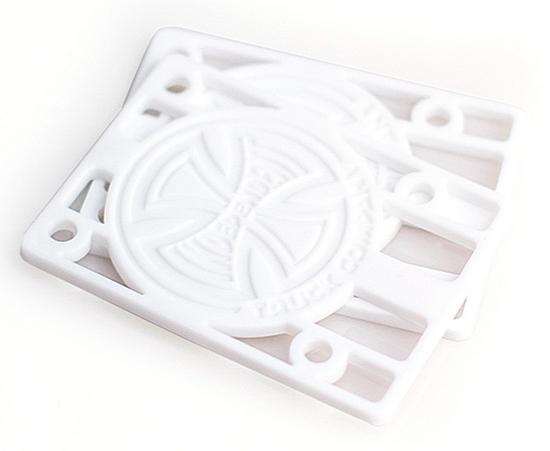 "Independent 1/8"" Hard Risers (Pair) / White"