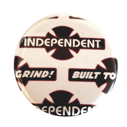 "Independent O.G.B.C. 1.25"" Button Black/White Bar & Cross"