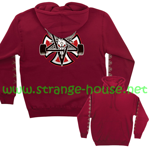Independent x Thrasher Pentagram Cross Pullover Hoodie Red/XXL