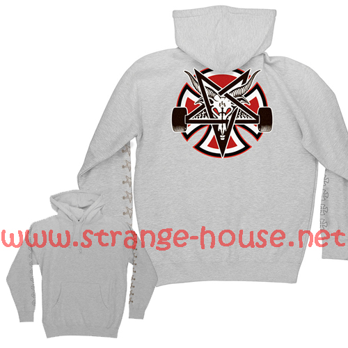 Independent x Thrasher Pentagram Cross Pullover Hoodie Gray/XXL