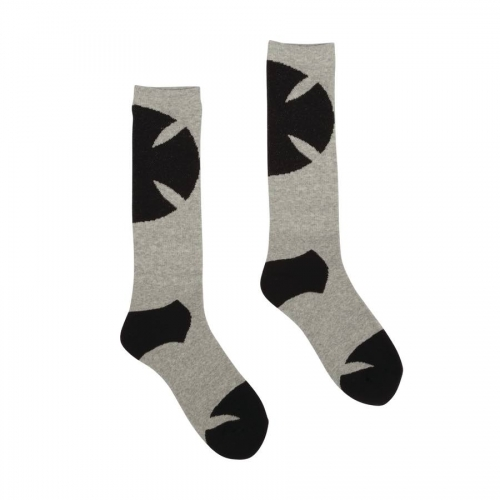 Independent Shadow Mid Crew Socks Gray / 1 Pair