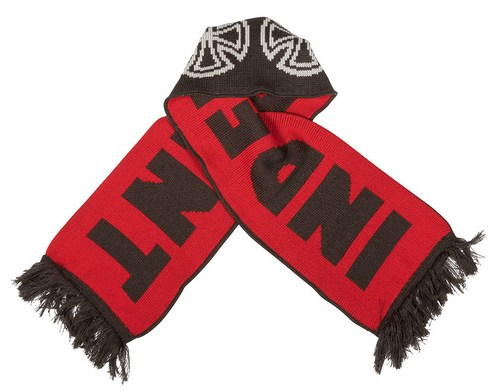 "Independent Woven Crosses Scarf / 60"" x 7.5"" Red / Black"