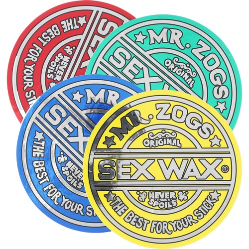 "Mr. Zogs Sex Wax 6.25"" Round Foil Sticker / GREEN"