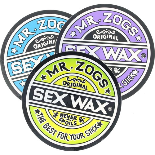 "Mr. Zogs Sex Wax 6.25"" Round Matte Sticker / BLUE"