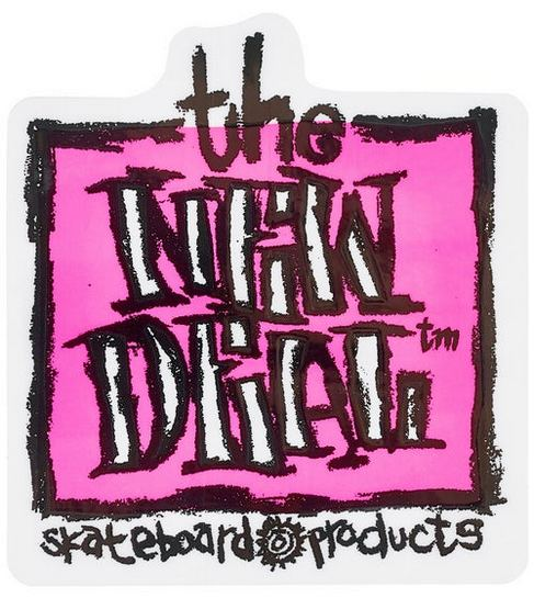 "New Deal Original Napkin 3"" x 3.25"" Sticker / Pink"