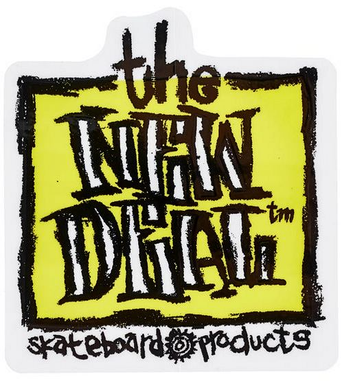 "New Deal Original Napkin 3"" x 3.25"" Sticker / Yellow"