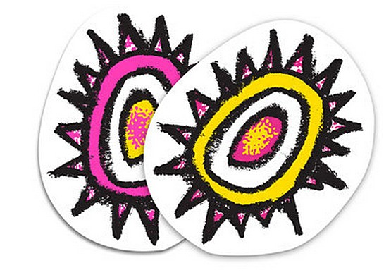 "New Deal Sun 3.5"" x 4.25"" Sticker / Pink"