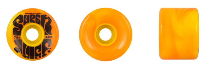 OJ Wheels OJ Super Juice 60mm / 78a - Yellow/Orange Swirl
