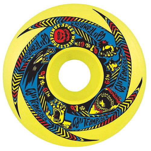 OJ II Team Rider Wheels 61mm / 97a - Yellow