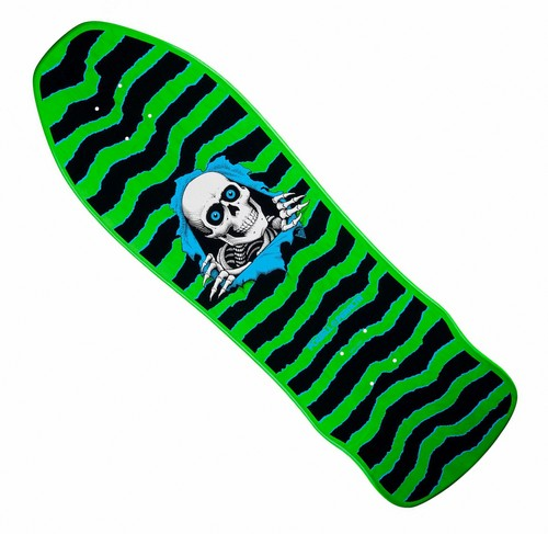 "Powell Peralta Ripper Gee Gah 9.75"" Green / Black Deck - Click Image to Close"