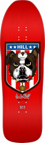 "Powell Peralta Frankie Hill Bulldog Re-Issue 10.0"" Deck Red"