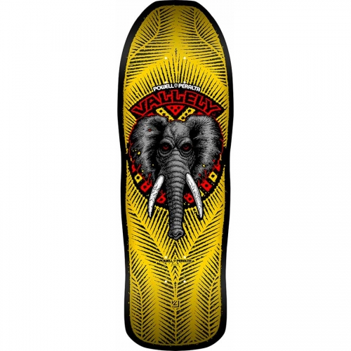 "Powell Peralta Mike Vallely Elephant Re-Issue 10.0"" Deck Yellow"