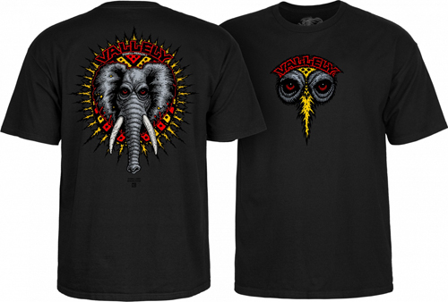 Powell Peralta Mike Vallely Elephant T-Shirt Black / XXL