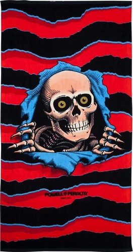 "Powell Peralta Sunburned Ripper Beach Towel #2 - 36"" x 68"""