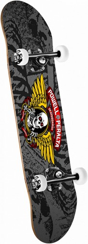 "Powell Peralta Winged Ripper Complete 8.0"" x 32.125"" Black/Gray"