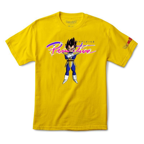 Primitive x Dragonball Z S/S Nuevo Vegeta T-Shirt Yellow / MD - Click Image to Close