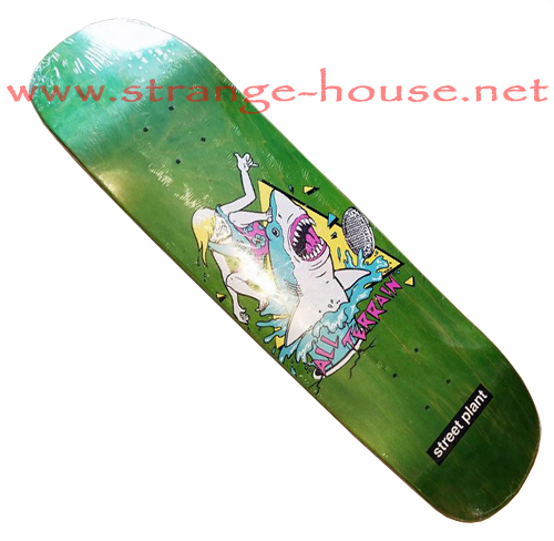 "Street Plant All Terrain Shark 8.25"" Deck - Green"