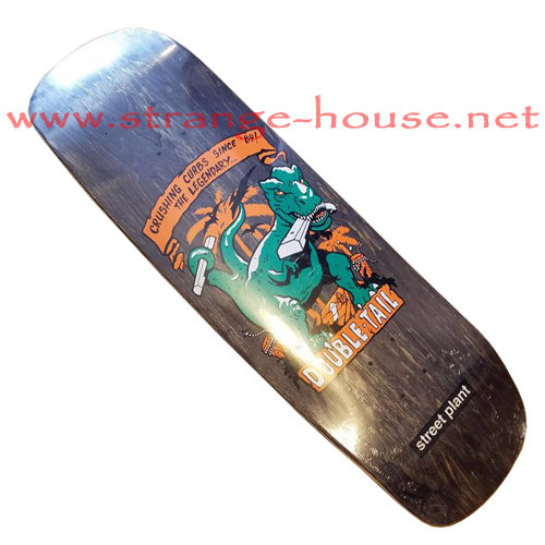 "Street Plant Double Tail Dinosaur 9.5"" Deck - Black Stain"