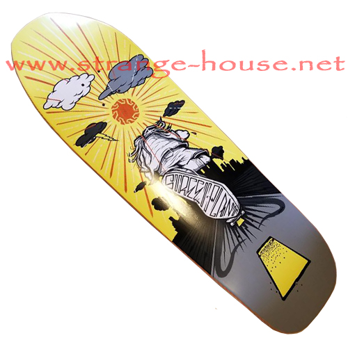 "Street Plant City Pusher 9.5"" Deck - Yellow"