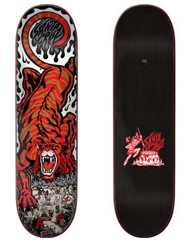 "Santa Cruz Steve ""Salba"" Alba Tiger 8.0"" Pop Pro Deck"