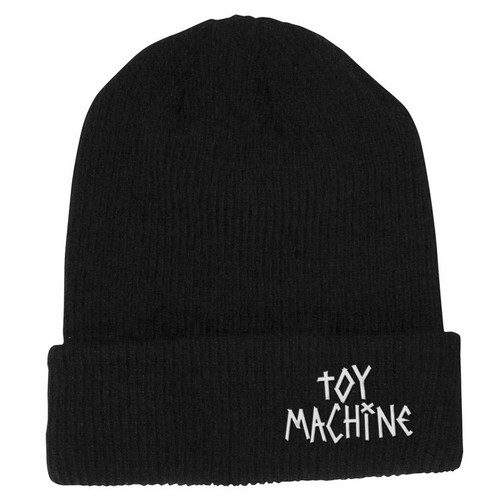 Toy Machine Text Logo Beanie Black