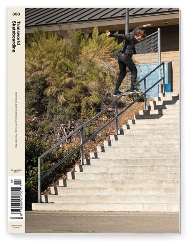 Transworld Skateboarding #393 / Adrien Bulard Cover July 2018
