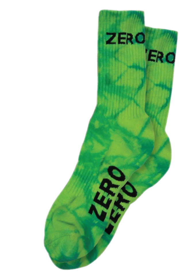 Zero Army Socks / Acid Green / Pair