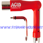 Acid Chemical Co. Space Tool / 7 - Tools in One / Red