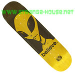 "Alien Workshop Believe 8.0"" Hexmark Deck - Yellow"