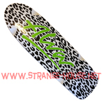 "Alva Leopard Re-Issue 10"" x 32.5"" - White, Black and Lime"