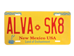 ALVA SK8 New Mexico License Plate