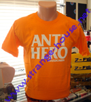 AntiHero Logo T-Shirt Orange w/ Beige Logo / Small