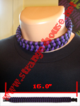 "Survival Necklace 15"" Black & Purple"