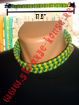 "Survival Necklace 17.5"" Green & Yellow"